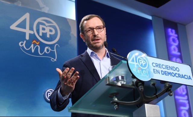 Rueda de prensa de Javier Maroto tras la reunión del Comité de Dirección del PP