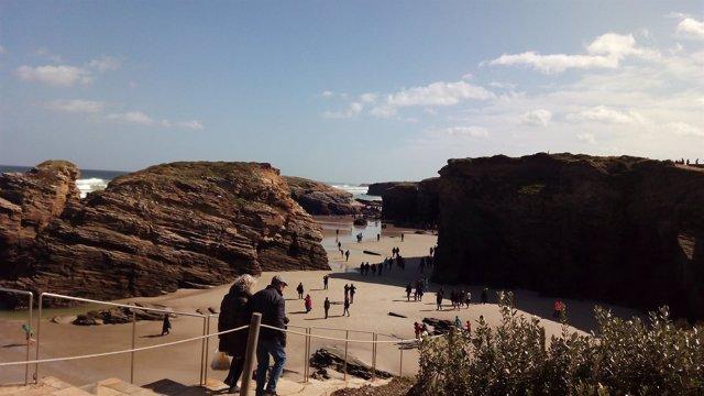 Foto de archivo de la Playa de As Catedrais