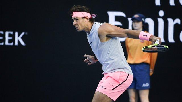Rafa Nadal en el Australian Open 2018