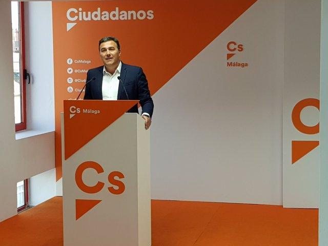Carlos Hernández White parlamentario de Cs por Málaga Ciudadanos naranja
