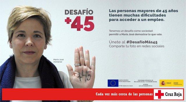 Programa 'DesafíoMás45' de Cruz Roja.
