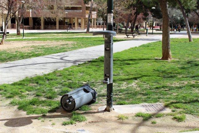 Deterioro y vandailsmo en el parque Miraflores