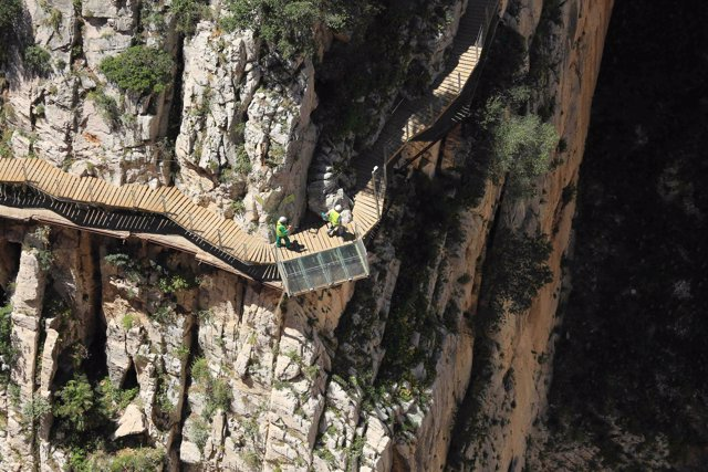 El Caminito del Rey espectacular paraje pasarela desfiladero Gaitanes  turismo
