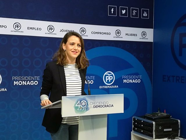 Gema Cortés en la rueda de prensa de este lunes