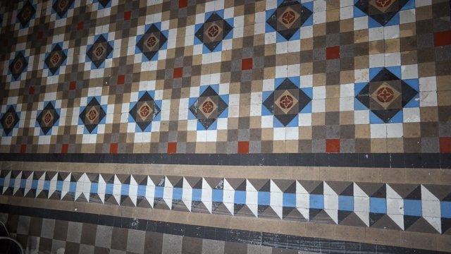 Conjunto de mosaicos del pavimento Nolla