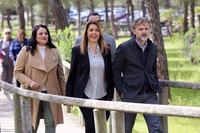 La presidenta de la Junta de Andalucía, Susana Díaz, en el centro El Acebuche.