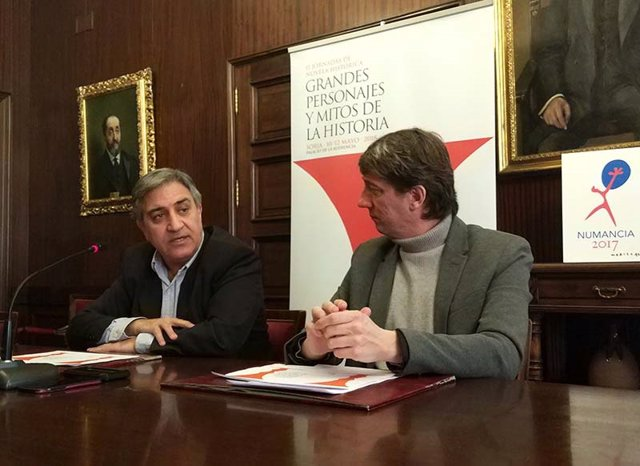 Presentación de las II Jornadas de Novela Histórica de Soria 02-04-2018