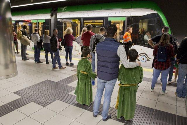 Metro de Málaga Semana Santa nazarenos transporte movilidad 2018
