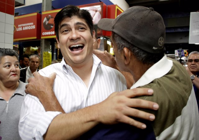 Carlos Alvarado Quesada, presidential candidate of the ruling Citizens' Action P