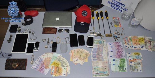 Cinco detenidos por robos
