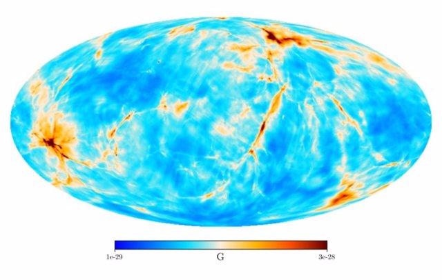 Se calcula el campo magnético del BigBang en nuestro vecindario cósmico