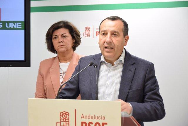 Ruiz Espejo secretario general PSOE málaga y fuensanta lima vicesecretaria