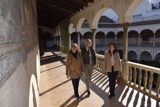 Visita de los populares a un convento