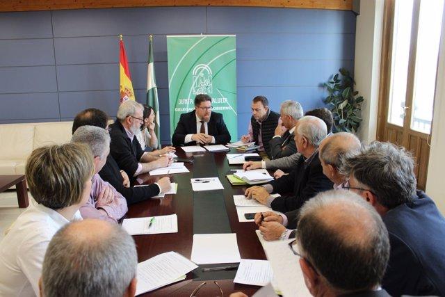 Reuión de la Junta con Cooperativas Agro-alimentarias de Granada