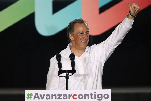 El candidato presidencial del PRI, José Antonio Meade