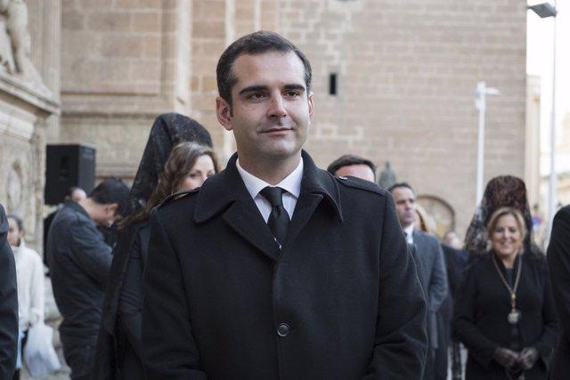 El alcalde de Almería, Ramón Fernández-Pacheco, en la Semana Santa