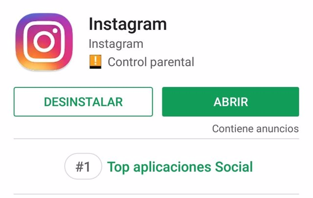Instagram en Google Play Store