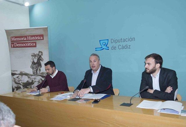 Presentación jornadas de Memoria Histórica en Diputación de Cádiz