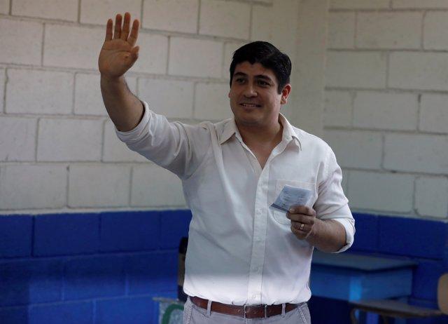 El presidente electo de Costa Rica, Carlos Alvarado Quesada.