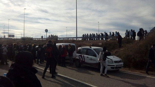 Protesta de los CDR en Soses (Lleida)