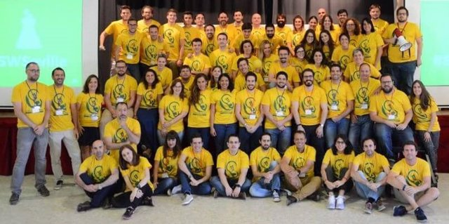 Participantes del Sevilla Startup Weekend Education celebrado en 2017