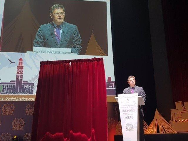 El ministro de Justicia, Rafael Catalá en la inauguración de la CIMJ
