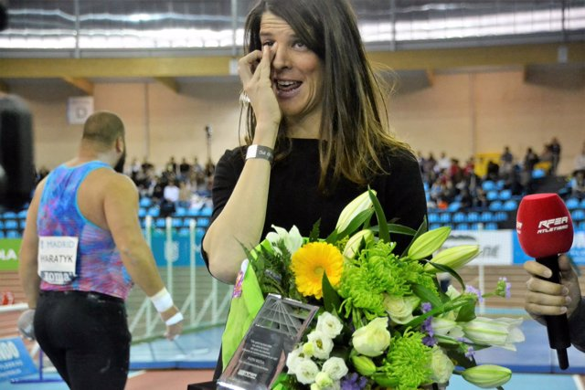 Ruth Beitia, homenajeda en el Meeting de Madrid