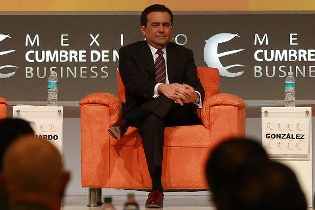 Ildefonso Guajardo Villarreal, secretary of economy for Mexico, participates in