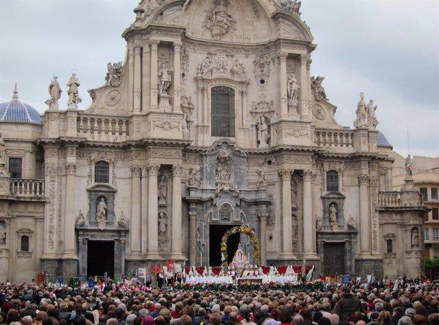 Catedral, misa huertana, bando de la huerta, Virgen de la Fuensanta.