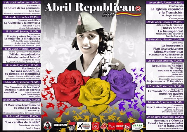 Cartel de 'Abril Republicano'