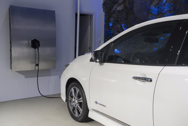 Recarga de vehículo eléctrico de Nissan