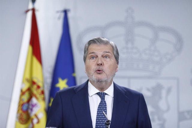 Rueda de prensa del portavoz del Gobierno, Iñigo Méndez de Vigo