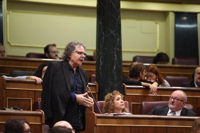 Joan Tarda en la sesión de control al Gobierno en el Congreso