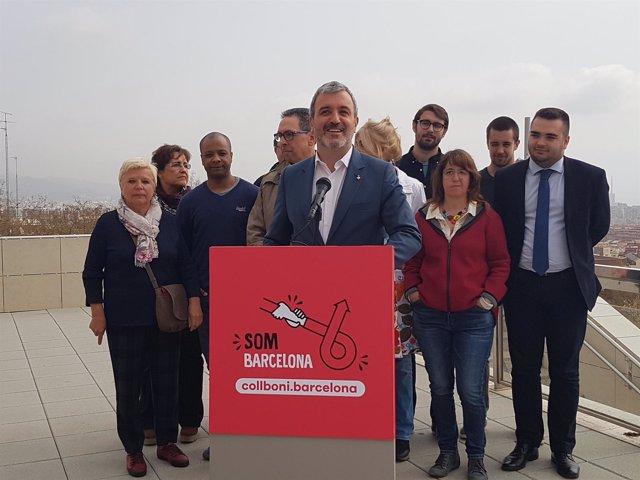 Jaume Collboni presenta su candidatura a alacaldable del PSC en Barcelona