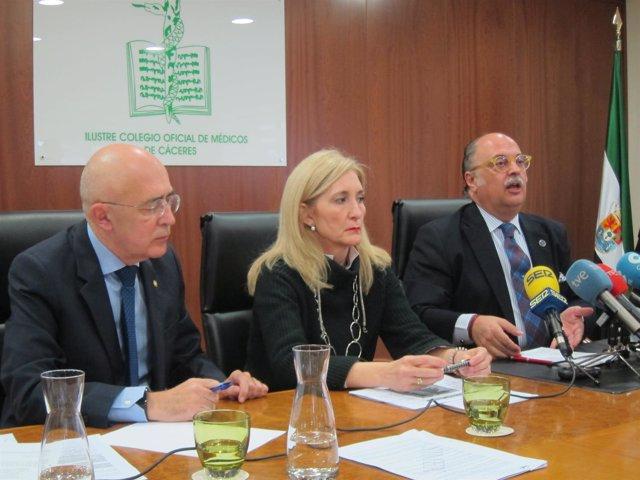 Carlos Arjona, María José Rodríguez y Pedro Hidalgo