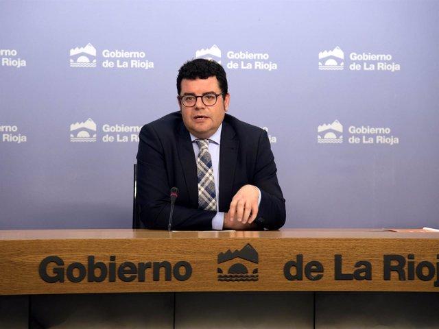 El consejero de Administración Pública y Hacienda, Alfonso Domínguez