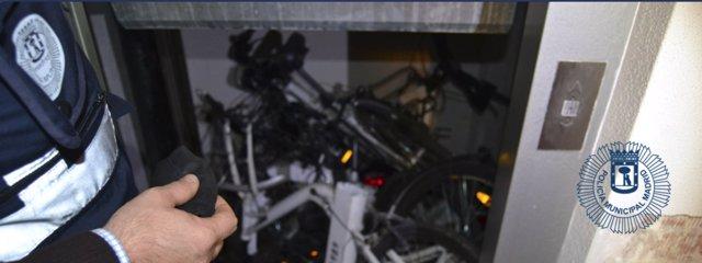 Bicimad robadas recuperadas por la Policía Municipal