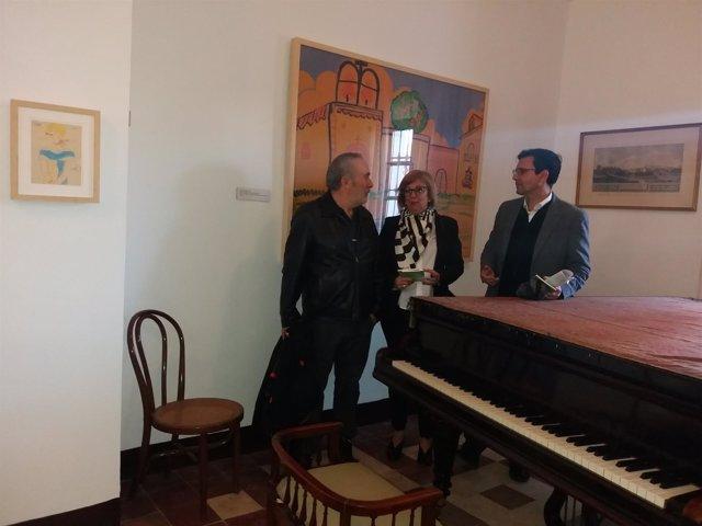 Pablo Sycet, María de Leyva y Francisco Cuenca, en la Huerta de San Vicente