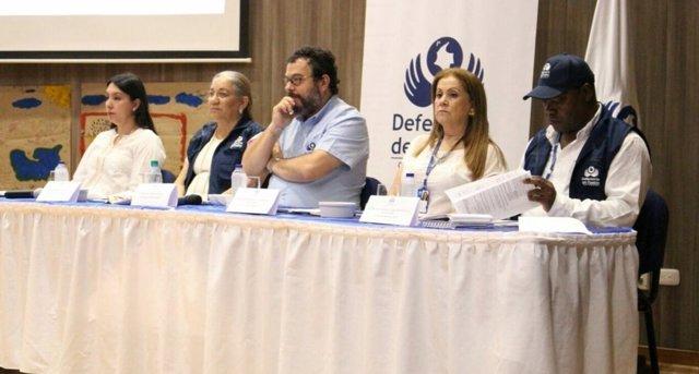 Rueda de prensa en La Guajira