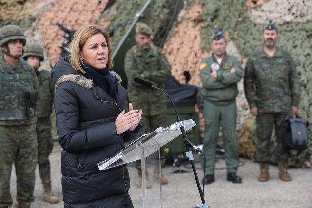 La ministra de Defensa, Maria Dolores de Cospedal, en Tarragona