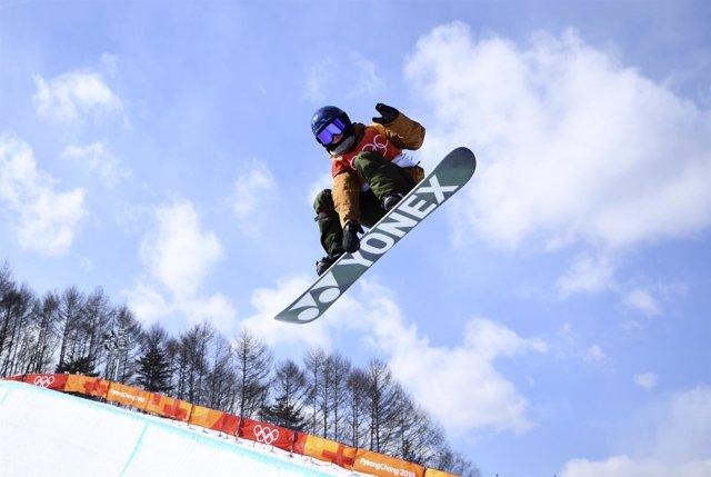 Queralt Castellet durante la calificación en PyeongChang