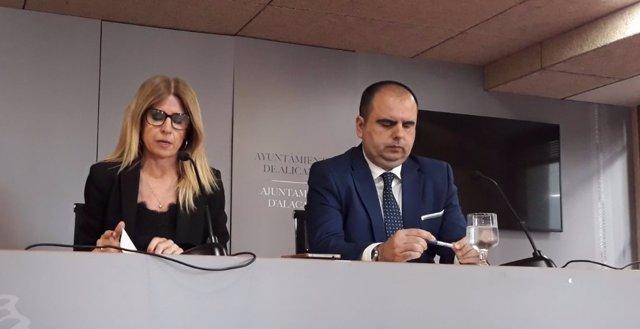 Eva Montesinos y Carlos Giménez, este martes