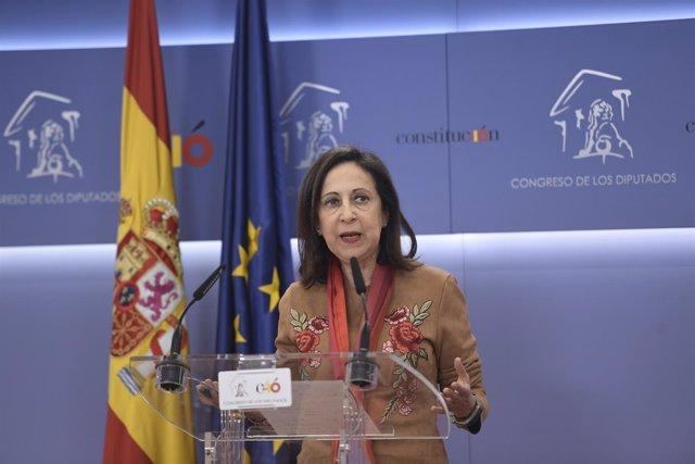 Rueda de prensa de la portavoz del PSOE, Margarita Robles, en el Congreso