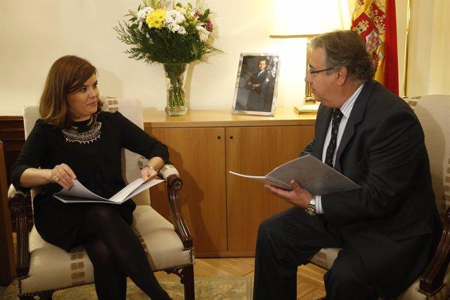 Soraya Saénz de Santamaría y Juan Ignacio Zoido
