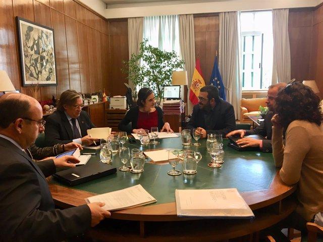 Reunión Vicenç Vidal con secretaria Estado de Medio Ambiente