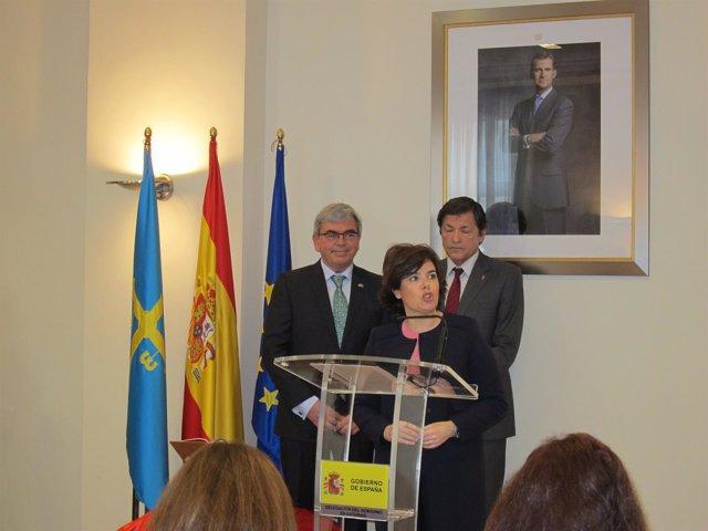 Soraya Sáenz de Santamaría en la toma de posesión del Delegado del Gobierno