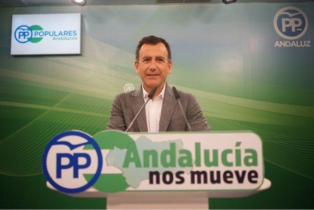 Pablo Venzal, en rueda de prensa este martes.