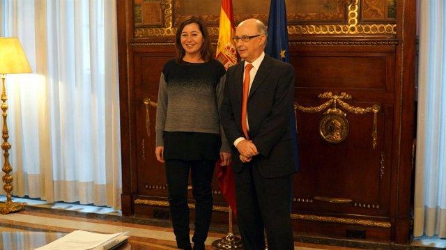 Cristóbal Montoro y Francina Armengol en una imagen de archivo