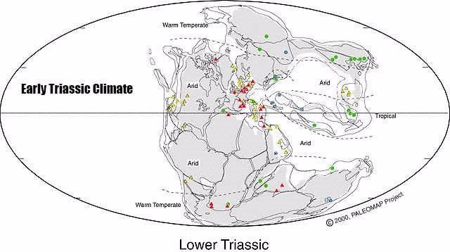 Tierras emergidas hace 250 millones de años