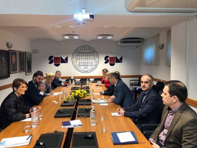 Reunión de Andalucía con autoridades de Mostar (Bosnia).